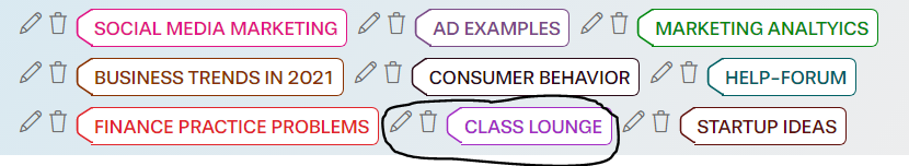 class lounge topic circled