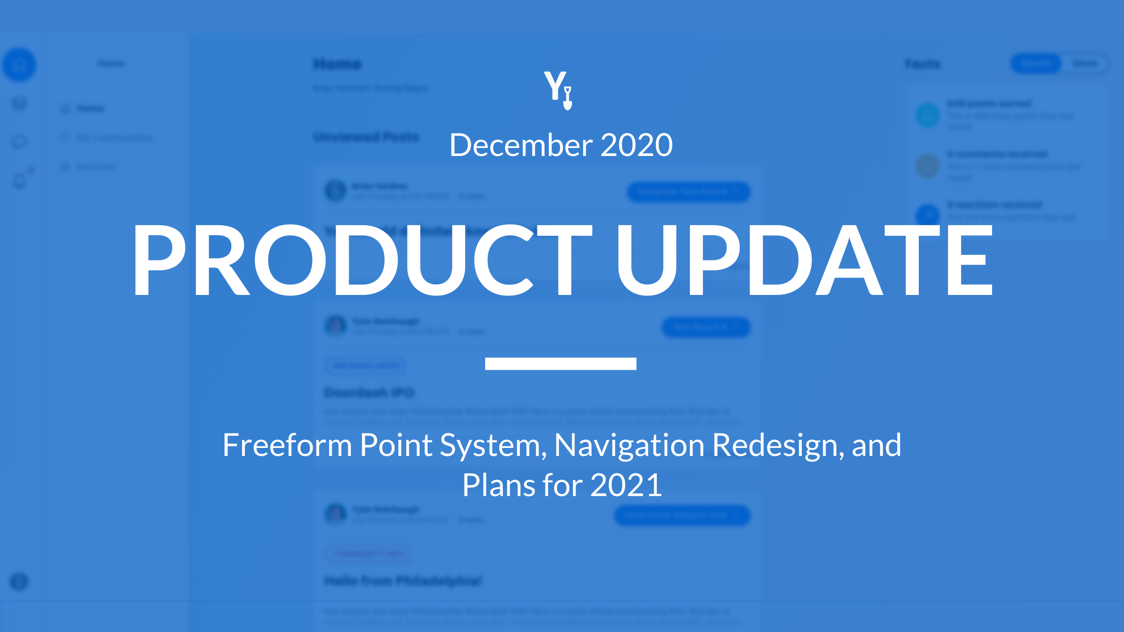 December 2020 Product Update - Freeform Point System, Navigation Redesign, and Plans for 2021